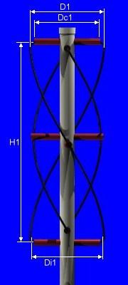 Quadrifilar helicoidal antenna