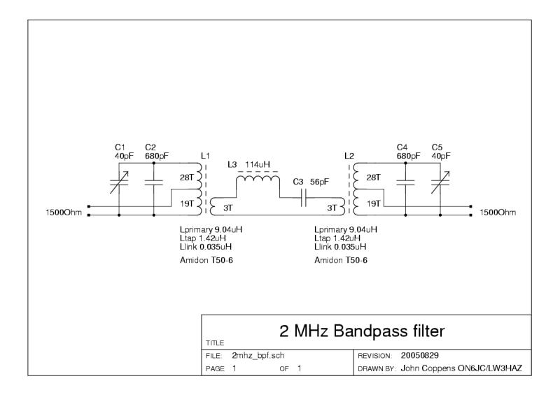 Satélites - 2 MHz LC bandpass filter